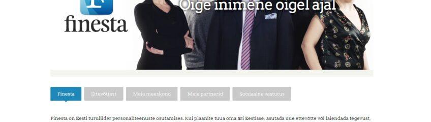 Finesta koduleht/web